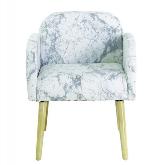fauteuil imprimé marbre